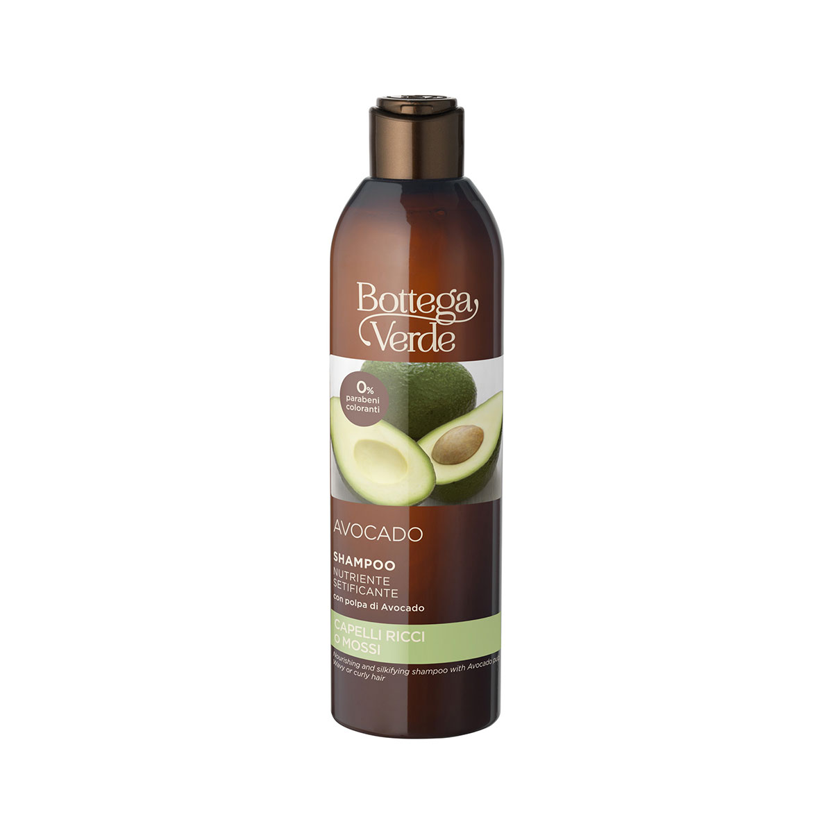 Avocado - Shampoo nutriente setificante - con polpa di Avocado (250 ml) - capelli ricci o mossi